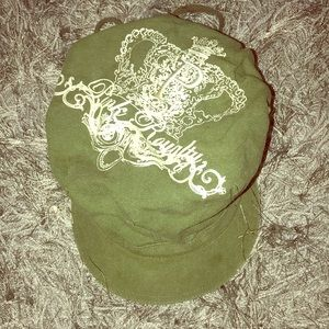PINK University hat olive green conductor style